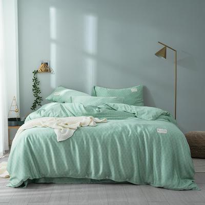 G+家纺 奥地利兰精天丝四件套 1.8m(6英尺)床 海松 绿色