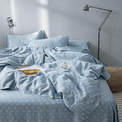 G+家纺 奥地利兰精天丝四件套 1.8m(6英尺)床 马翁 蓝色