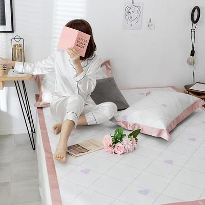 G+家纺冰丝席印花三件套 床笠款150X200cm 倾心