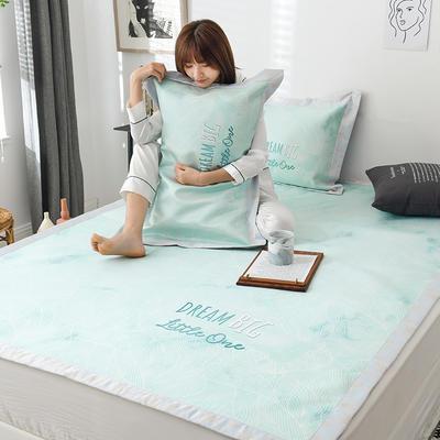 G+家纺冰丝席印花三件套 床笠款150X200cm 倚梦