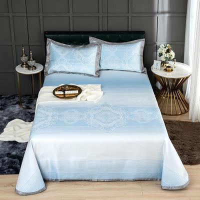 G+家纺 冰丝提花床单款凉席三件套 250X250cm 涵易