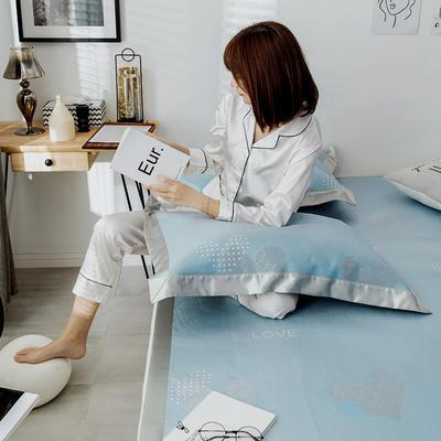G+家纺 冰丝席提花三件套 150X200cm 美心