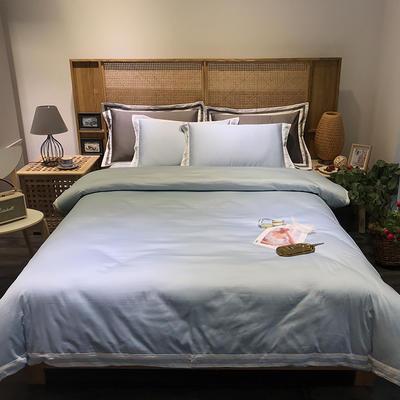 G+家纺 工艺款60S长绒棉四件套(实拍图) 1.5m(5英尺)床 灰色