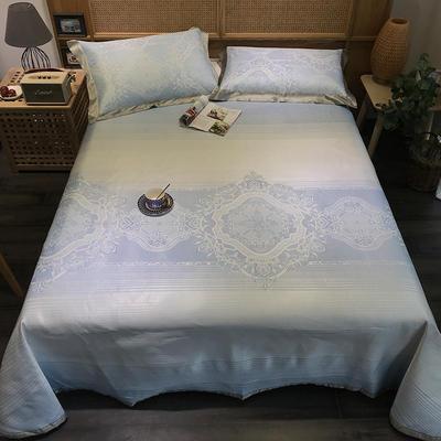 G+家纺 冰丝提花床单款凉席三件套 实拍图 250X250cm 涵易