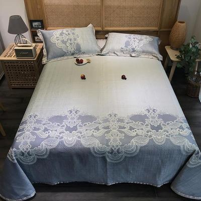 G+家纺 冰丝提花床单款凉席三件套 实拍图 250X250cm 盼芙