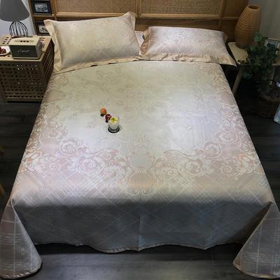 G+家纺 冰丝提花床单款凉席三件套 实拍图 250X250cm 灼光