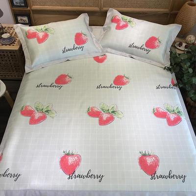 G+家纺 冰丝席印花三件套 实拍图 150X200cm 草莓