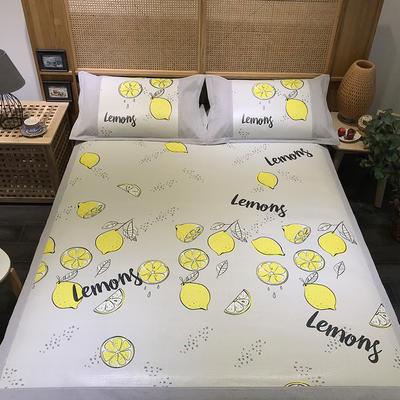 G+家纺 藤席印花三件套 实拍图 150X200cm 柠檬