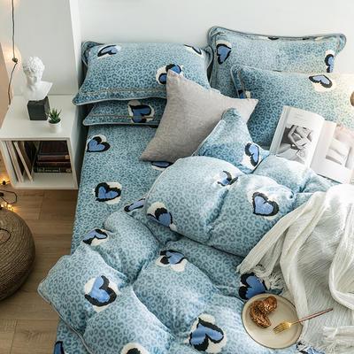 G+家纺 速暖绒印花四件套 1.8m(6英尺)床 合欢