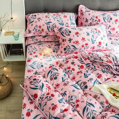G+家纺 速暖绒印花四件套 1.5m(5英尺)床 旋花