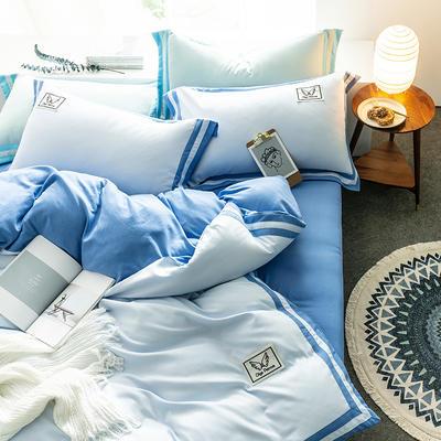 G+家纺 加热拉绒双拼工艺四件套梦绘系列 1.5m(5英尺)床 梦绘 湖兰