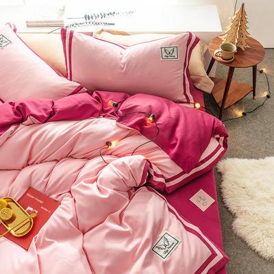 G+家纺 加热拉绒双拼工艺四件套梦绘系列 1.5m(5英尺)床 梦绘 酒红
