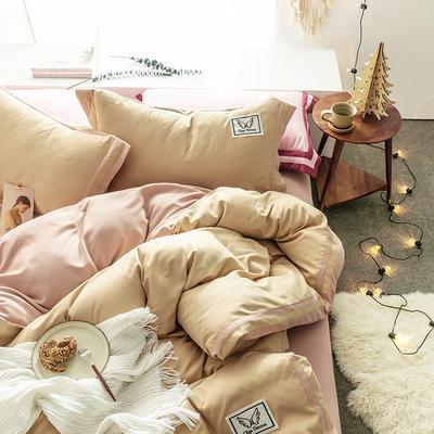 G+家纺 加热拉绒双拼工艺四件套梦绘系列 1.5m(5英尺)床 梦绘 米灰