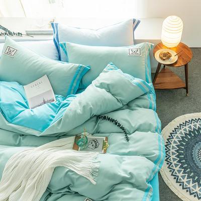 G+家纺 加热拉绒双拼工艺四件套梦绘系列 1.5m(5英尺)床 梦绘 水绿