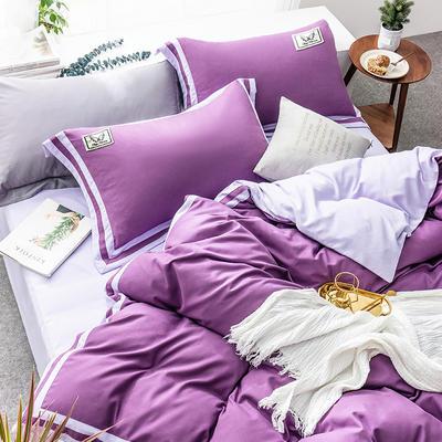 G+家纺 加热拉绒双拼工艺四件套梦绘系列 1.5m(5英尺)床 梦绘 雪青