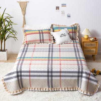 2021新款- 小清新全棉床盖款 单床盖200cm*230cm 布拉德(咖)