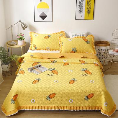 2020新款- 小清新全棉床盖款 单床盖200cm*230cm 开心萝卜