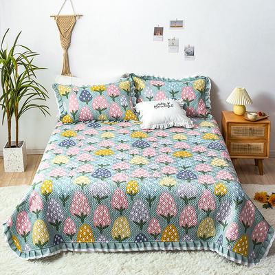 2020新款- 小清新全棉床盖款 单床盖200cm*230cm 清新草莓