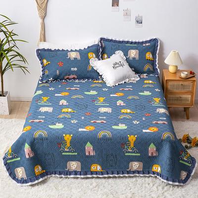 2021新款- 小清新全棉床盖款 单床盖200cm*230cm 森林派对