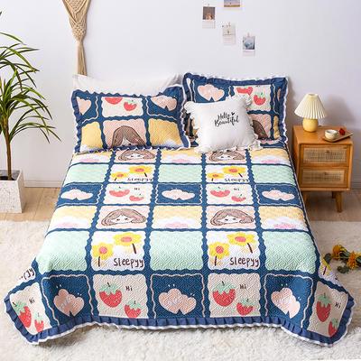 2020新款- 小清新全棉床盖款 单床盖200cm*230cm 甜心女孩
