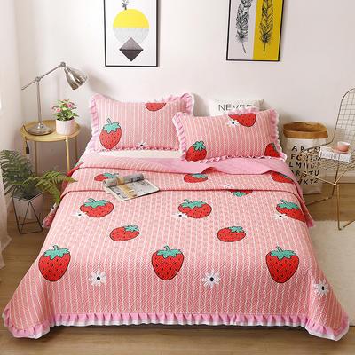 2020新款- 小清新全棉床盖款 单床盖200cm*230cm 一颗大草莓-粉
