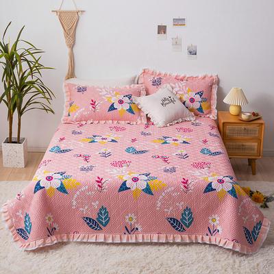 2020新款- 小清新全棉床盖款 单床盖200cm*230cm 璎珞粉