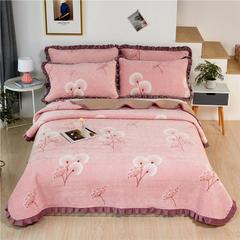 2020新款-牛奶绒床盖 单床盖200*230cm 蒲公英之恋