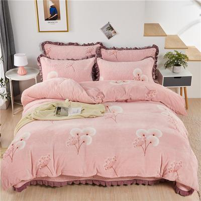 2020新款-牛奶绒床盖四件套 单床盖200*230cm 蒲公英之恋