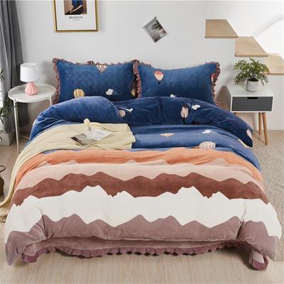 2020新款-牛奶绒床盖四件套 单床盖200*230cm 氢气球