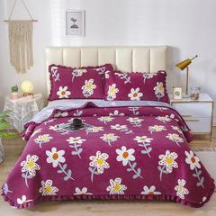 2020新款-牛奶绒床盖 单床盖200*230cm 陌上花开