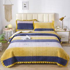 2020新款-牛奶绒床盖 单床盖200*230cm 西雅图-黄