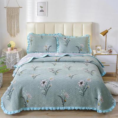 2020新款-牛奶绒床盖四件套 床盖四件套200*230cm 清香怡人