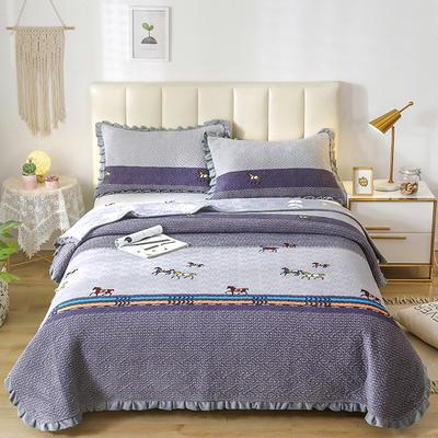 2020新款-牛奶绒床盖 单床盖200*230cm 马踏飞燕