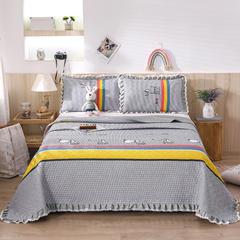 2020新款- 小清新全棉床盖款 单床盖200cm*230cm 格彩童话