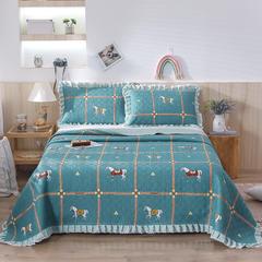 2020新款- 小清新全棉床盖款 单床盖200cm*230cm 骑士精神