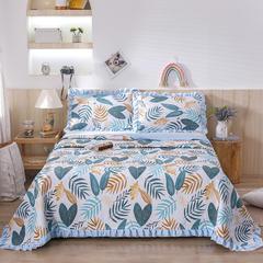 2020新款- 小清新全棉床盖款 单床盖200cm*230cm 叶影