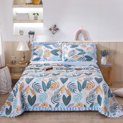 2021新款- 小清新全棉床盖款 单床盖200cm*230cm 叶影