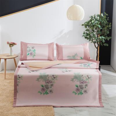2021新品- (主推款)软冰丝席 1.8米 5秘密花园(粉)