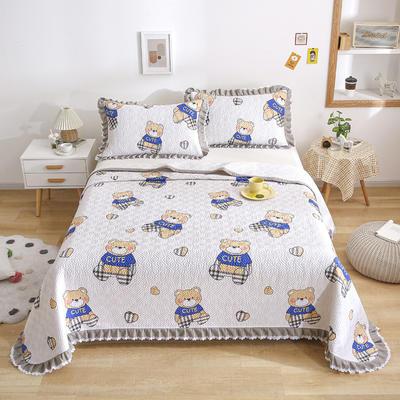 2021新款- 小清新全棉床盖款 单床盖200cm*230cm 宝莉熊