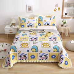 2021新款- 小清新全棉床盖款 单床盖200cm*230cm 呆萌伙伴