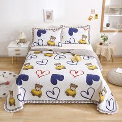 2021新款- 小清新全棉床盖款 单床盖200cm*230cm 泰迪熊