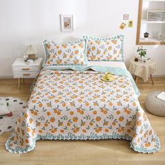 2021新款- 小清新全棉床盖款 单床盖200cm*230cm 小甜橙