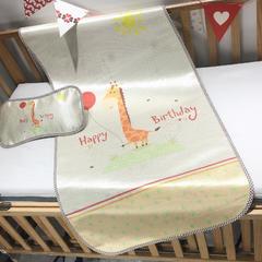 儿童席 婴儿床印花冰丝席 120cmX60cm 长颈鹿