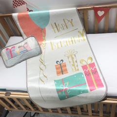 儿童席 婴儿床印花冰丝席 120cmX60cm 欢乐时刻