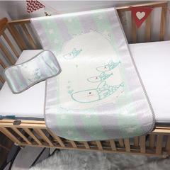 儿童席 婴儿床印花冰丝席 120cmX60cm 泡泡鱼