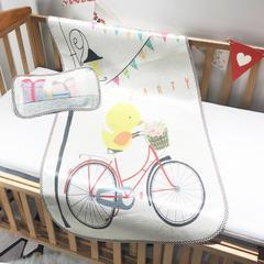 儿童席 婴儿床印花冰丝席 120cmX60cm 小黄鸭
