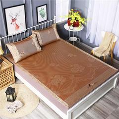 双面冰藤席-正面冰藤席 反面冰丝席 1.5m(5英尺)床 华丽风尚-土豪金