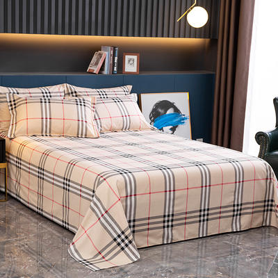 2020新款-全棉磨毛四件套单品单床单 2.45*2.5m 里约-咖