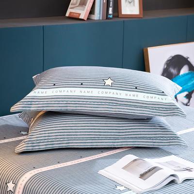 2020新款-全棉磨毛四件套单品单枕套 48*74cm/对 星河