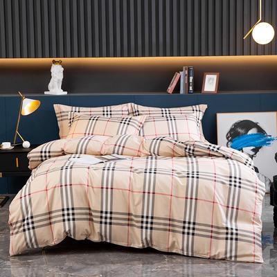 2020新款-全棉磨毛四件套 床单款四件套1.5*2.0   2.45*2.5 里约-咖